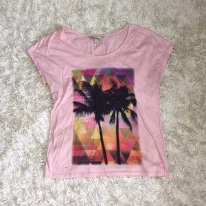 Pink Palm Tree Tee